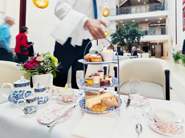 Enjoy scrumptious Afternoon Tea in our Atrium Lobby at Cavan Crystal Hotel