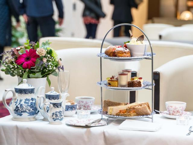 Enjoy Afternoon Tea in our stunning Atrium Lobby