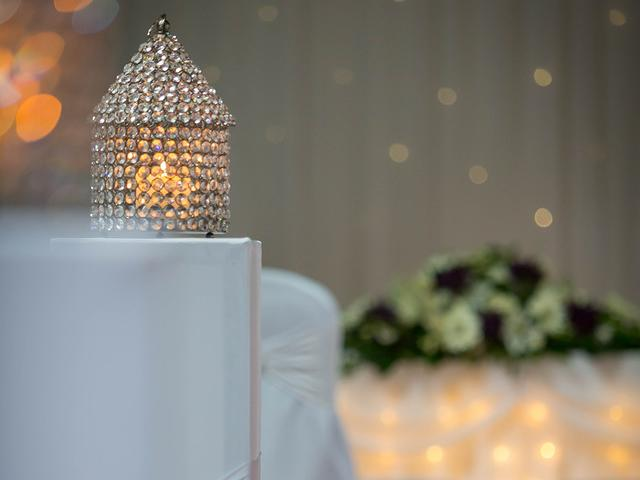 Crystal Lanterns for a Civil Ceremony at the Cavan Crystal Hotel