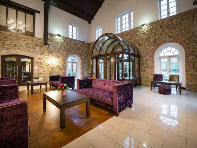 Our Impressive Stone Lobby at the Cavan Crystal Hotel